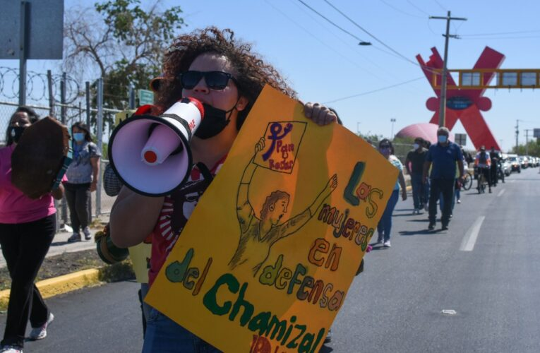 Ciudadanos toman las calles en defensa de El Chamizal (Ciudad Juárez)