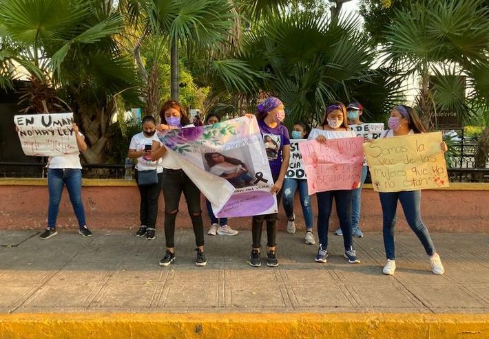 Ante lentitud de autoridades, familia de María May vuelve a protestar (Yucatán)