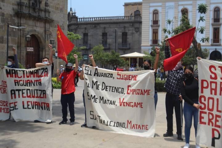 Estudiantes de la Normal de Atequiza exige la libertad de estudiantes normalistas de Mactumazá en Chiapas (Jalisco)
