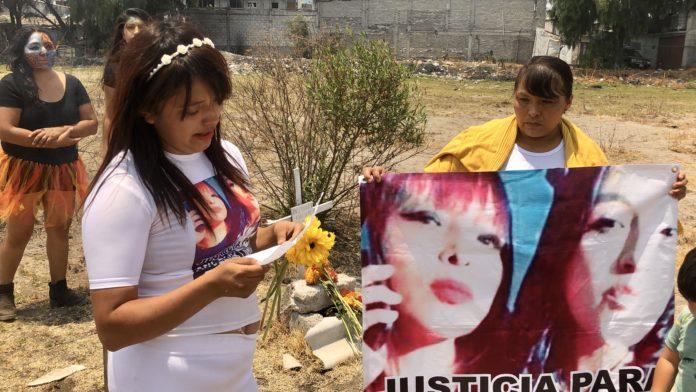 Ritual de la vida por Angélica y Karla, víctimas de feminicidio en Ecatepec (Estado de México)