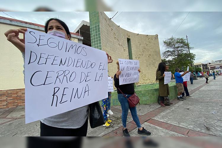 Protestan contra cambios en el Cerro de la Reina (Jalisco)
