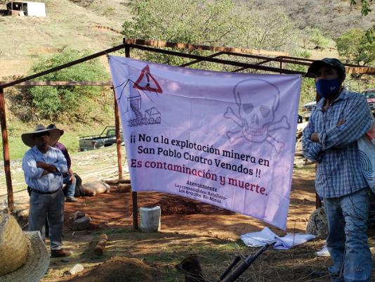 A dos años del intento de desalojo, nos mantenemos en resistencia contra el extractivismo: Comunidades de El Rebollero, Los Arquitos y Río Minas, Cuatro Venados, Oaxaca.
