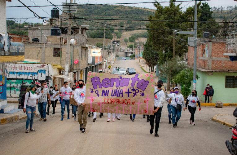 """""""Mientras tú pides tu voto, yo pido justicia"""": Marchan en Ixtapaluca por feminicidios (Estado de México)"""