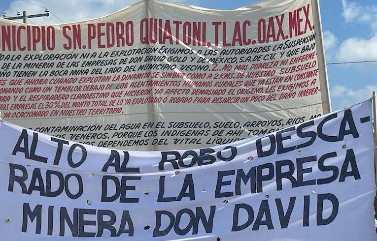 Pueblo zapoteco de Quiatoni dejó su comunidad en rechazo a las empresas mineras de Gold Resource Corp (Oaxaca)