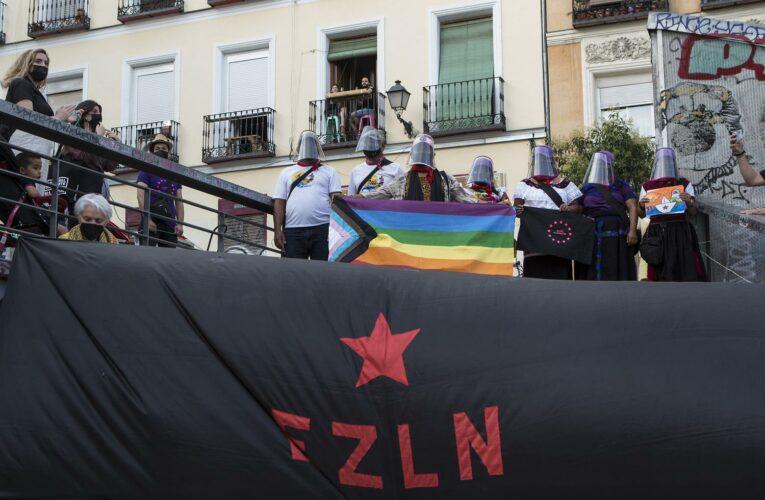 Travesía por la vida:  Emotiva bienvenida madrileña a la delegación marítima zapatista