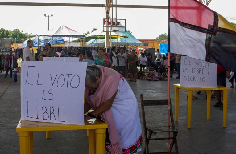 Pueblos mayas organizan sus propias consultas sobre las granjas de cerdos (Yucatán)