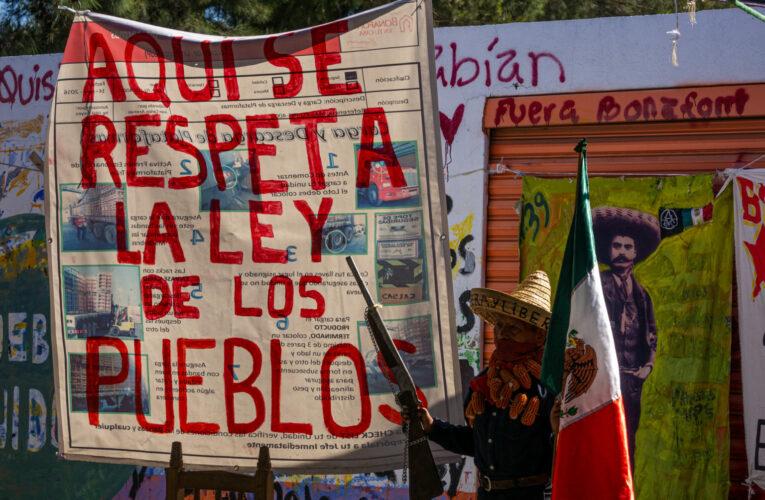 """Pueblos Unidos: """"Vamos a respetar la ley pero solo la ley de los pueblos."""" (Puebla)"""