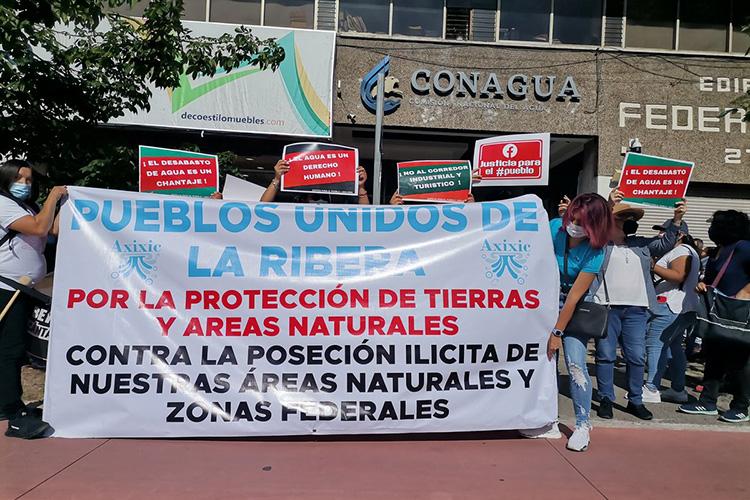Interpondrán denuncia por invasión a lago de Chapala (Jalisco)