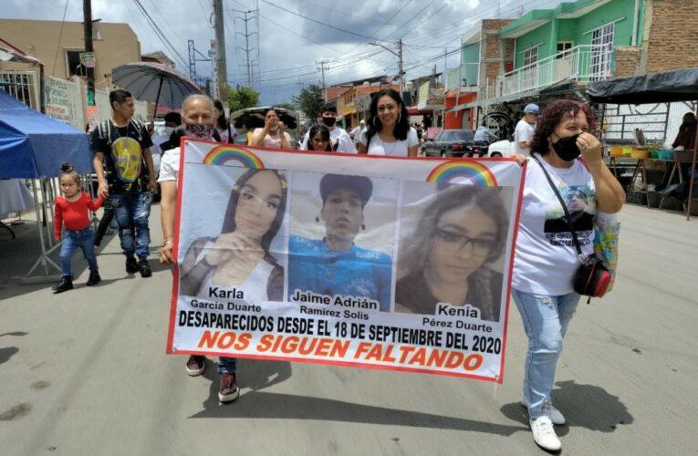 """""""Nos siguen faltando"""" reclaman familiares de Kenia y Karla, mujeres trans desaparecidas junto a familias buscadoras en Zapopan (Jalisco)"""